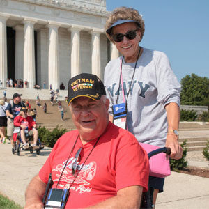 Veteran & Guardian at the Lincoln Memorial